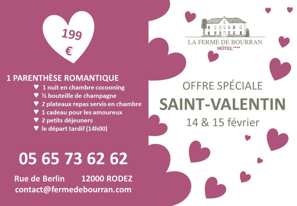Saint-Valentin Rodez Hôtel La Ferme de Bourran
